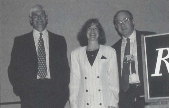 1998 AEC Keynote Presenters, Colonels Jerry and Nancy Jaax, With NEHA President Art Bloom