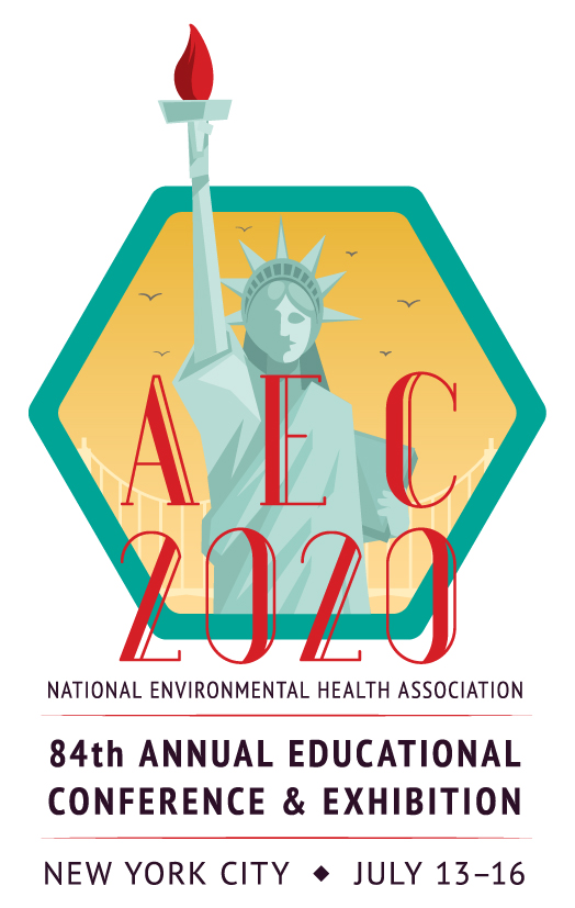 NEHA 2020 AEC logo with the statue of liberty