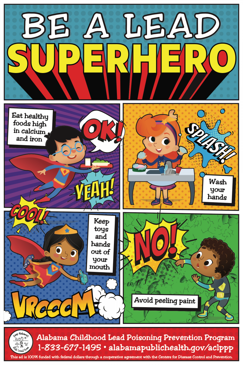 be a lead superhero comic style graphic