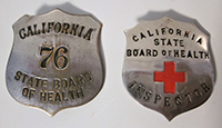 California State Board of Health Inspector Badges