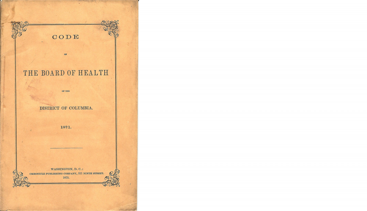District of Columbia Board of Health Code, 1871