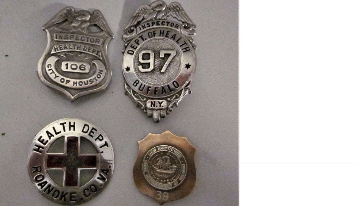 Inspector Badges From Different Cities