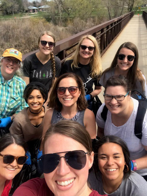 NEHA staff volunteered time out of their day to participate in the 2019 Cherry Creek Clean Up