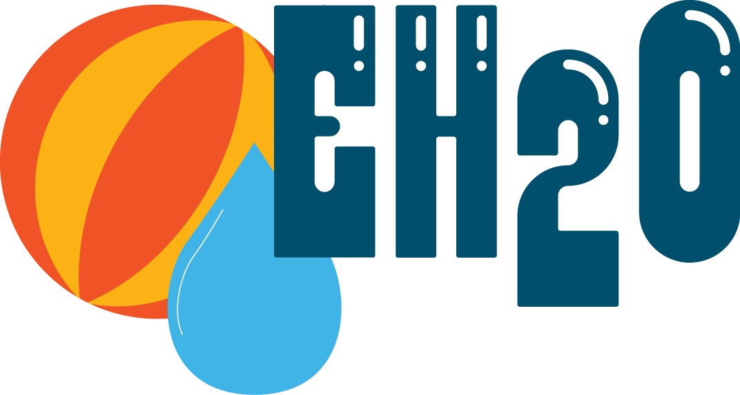 EH2O Recreational Water Virtual Conference logo with beach ball and water droplet
