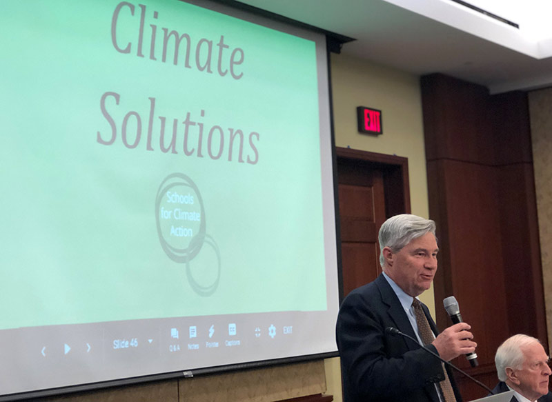 Senator Sheldon Whitehouse (D-RI) speaking at the S4CA Summit