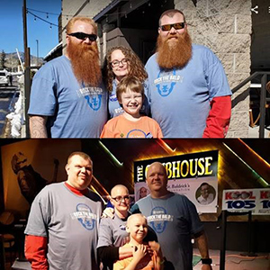 Trisha Bramwell and family brave the save and raise money for St. Baldrick's Foundation
