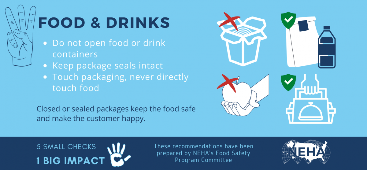 5 Checks for Safe Food Delivery Section 3: Food and Drinks