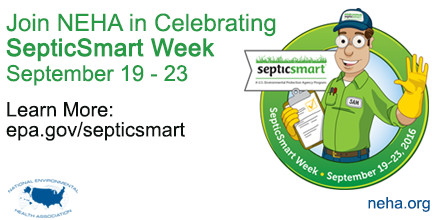 Septic Smart Week Celebration - man with yellow rubber gloves and clipboard