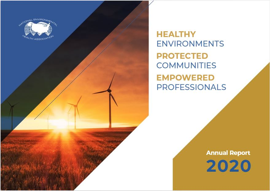 Cover of the NEHA 2020 Annual Report