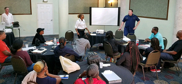 Final presentation of the USVI food safety and workforce training class.