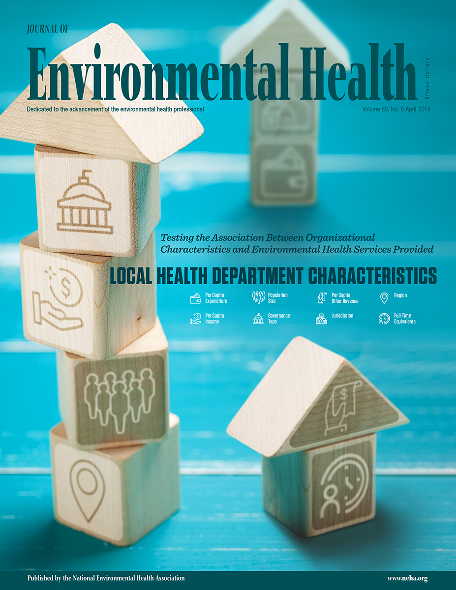April 2018 Issue of the Journal of Environmental Health (JEH)