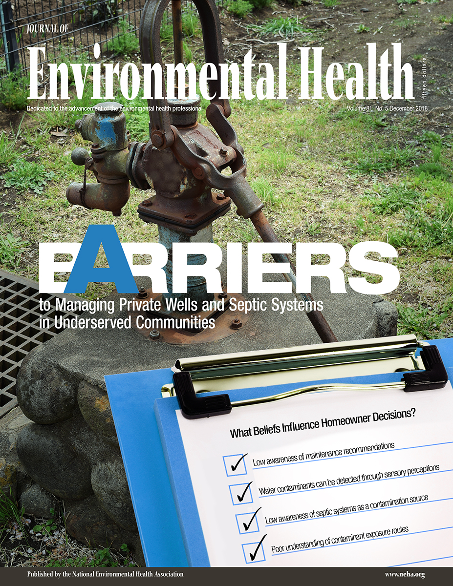 December 2018 issue of the Journal of Environmental Health