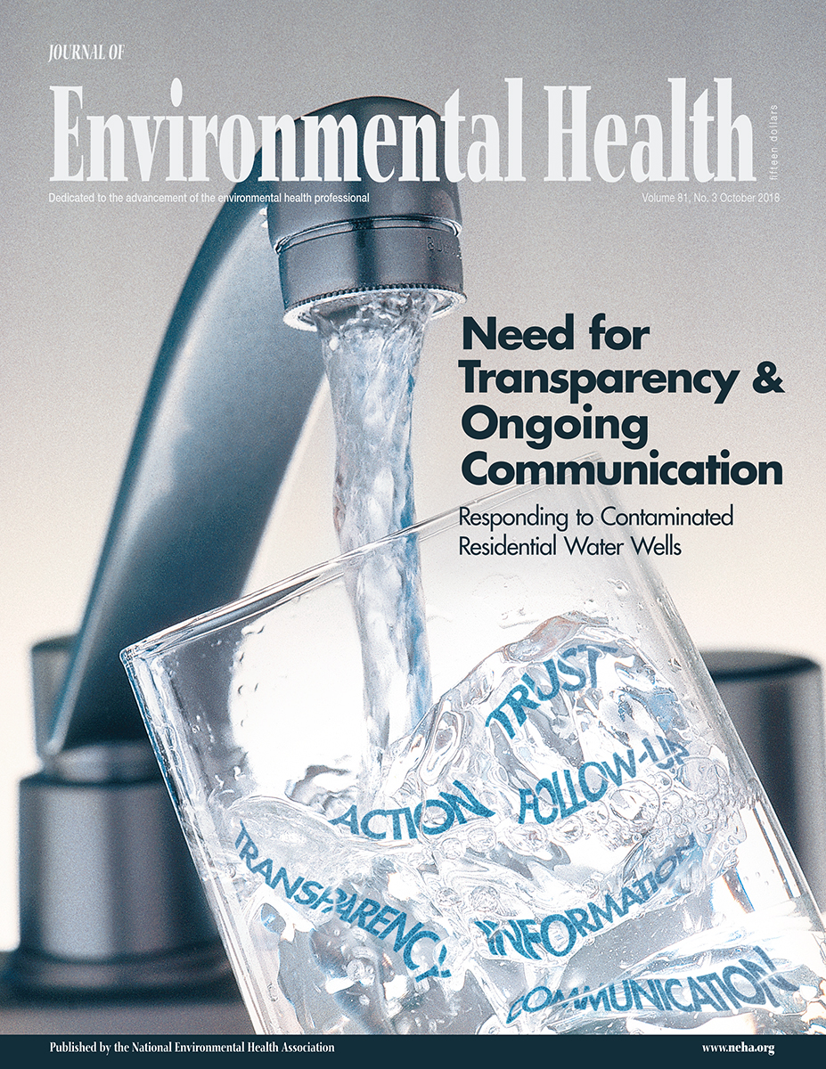 October 2018 issue of the Journal of Environmental Health
