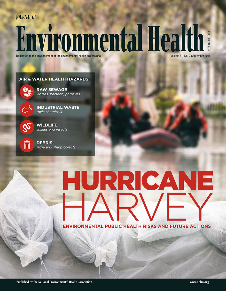 September 2018 Issue of the Journal of Environmental Health (JEH)
