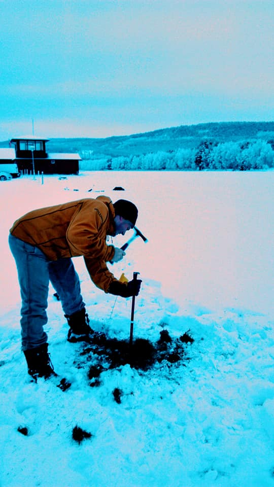 Paul Hester taking soil sampling in Norway in support of a NATO exercise.