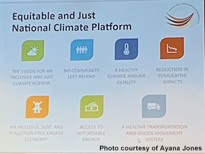 Equitable and Just National Climate Platform provided by Dr. Dorcetta Taylor