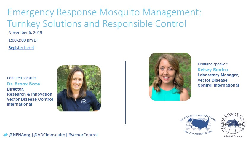 Register now for the Emergency Response Mosquito Management: Turnkey Solutions and Responsible Control webinar.
