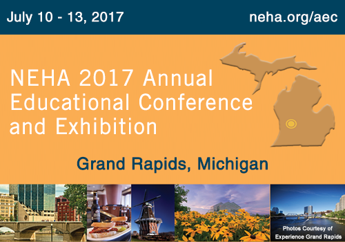 Save the Date: July 10-13, 2017 for NEHA AEC in Grand Rapids, Michigan