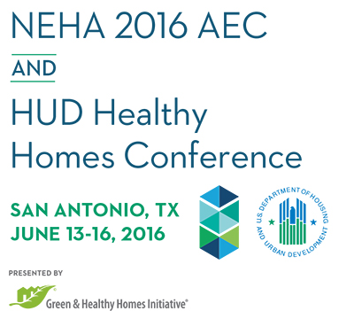 NEHA 2016 AEC and HUD Healthy Homes Conference Logo