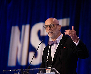 Dr. Dave Dyjack, Executive Director of the National Environmental Health Association speaking a at the Legionella Conference 2019.