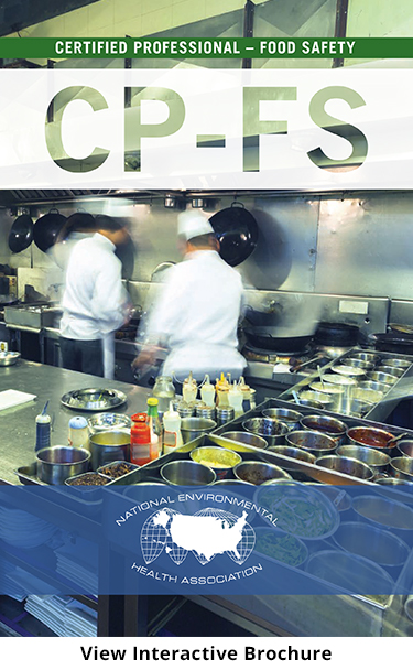 busy restaurant kitchen with chefs working in white coats and hats with text overlayCertified Professional - Food Safety (CP-FS) Credential - Chefs in commercial kitchen