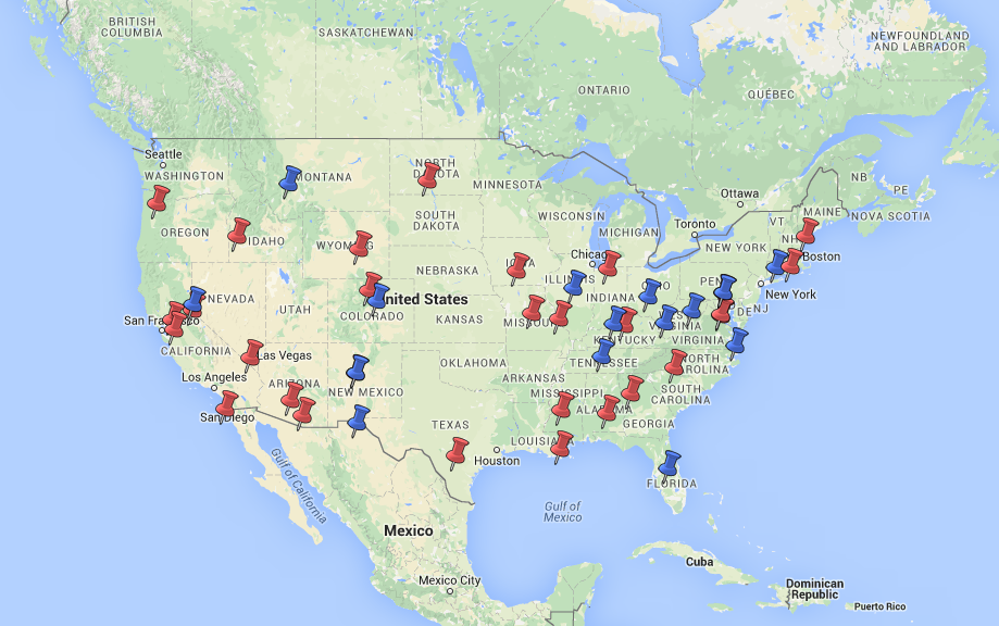 Map of EPI Ready Workshops in the United States