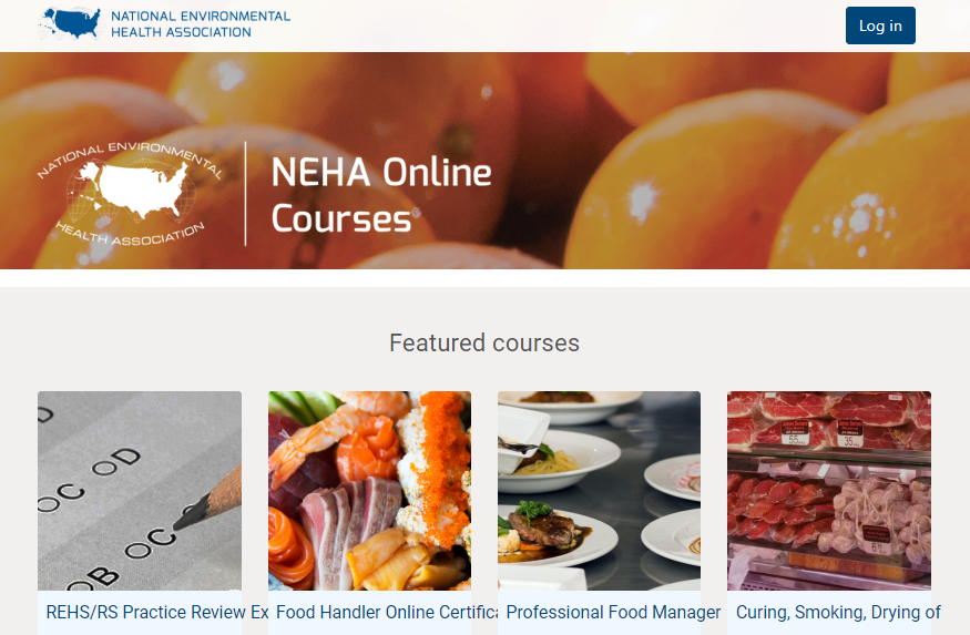 New NEHA E-Learning  Online Courses