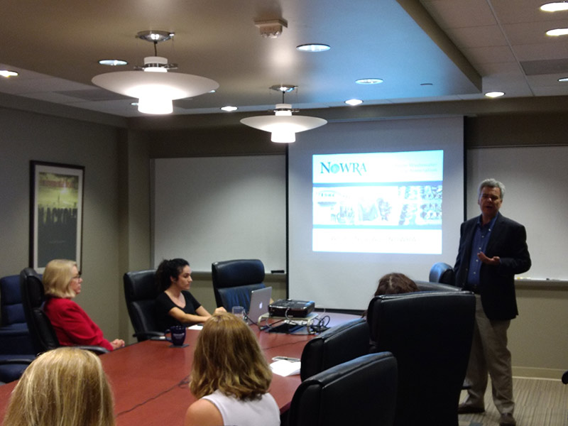 Eric Casey, Executive Director of the National Onsite Wastewater Recycling Association (NOWRA) addresses NEHA staff