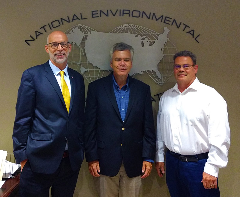Dr. David Dyjack, Eric Casey, and Roy Kroeger